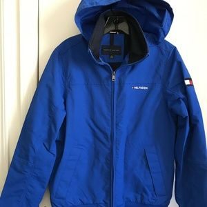 TOMMY HILFIGER Blue Spring jacket Unisex Small